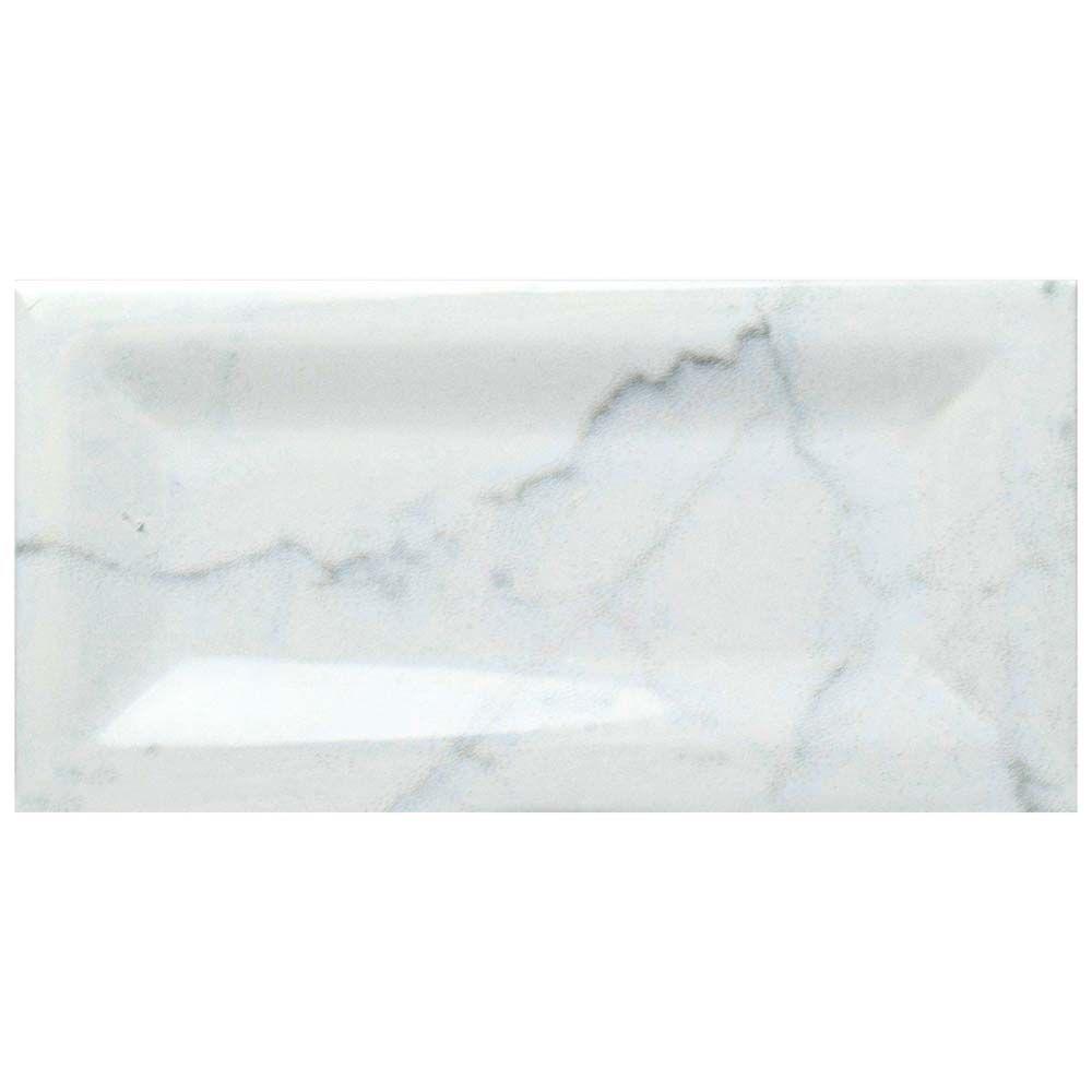 Merola Tile Classico Carrara Glossy Inmetro 3-inch x 6-inch Ceramic Wall Tile (12.41 sq. ft. / case)