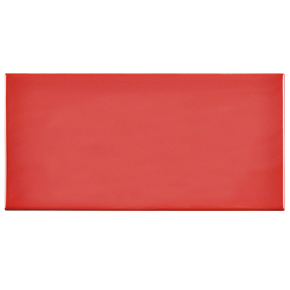 Merola Tile Park Slope Subway Apple Red 3 Inch X 6 Inch