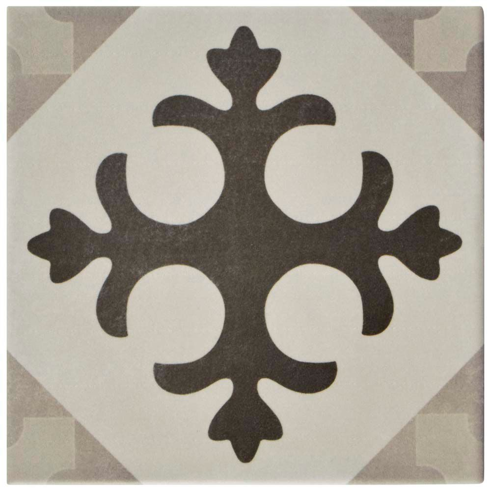 Merola Tile Atelier Gris Latin 5-7/8-inch x 5-7/8-inch Ceramic Floor and Wall Tile (5.73 sq. ft. / case)