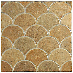 Merola Tile Escama Beige 13-1/8-inch x 13-1/8-inch Ceramic Floor and Wall Tile (7.22 sq. ft. / case)