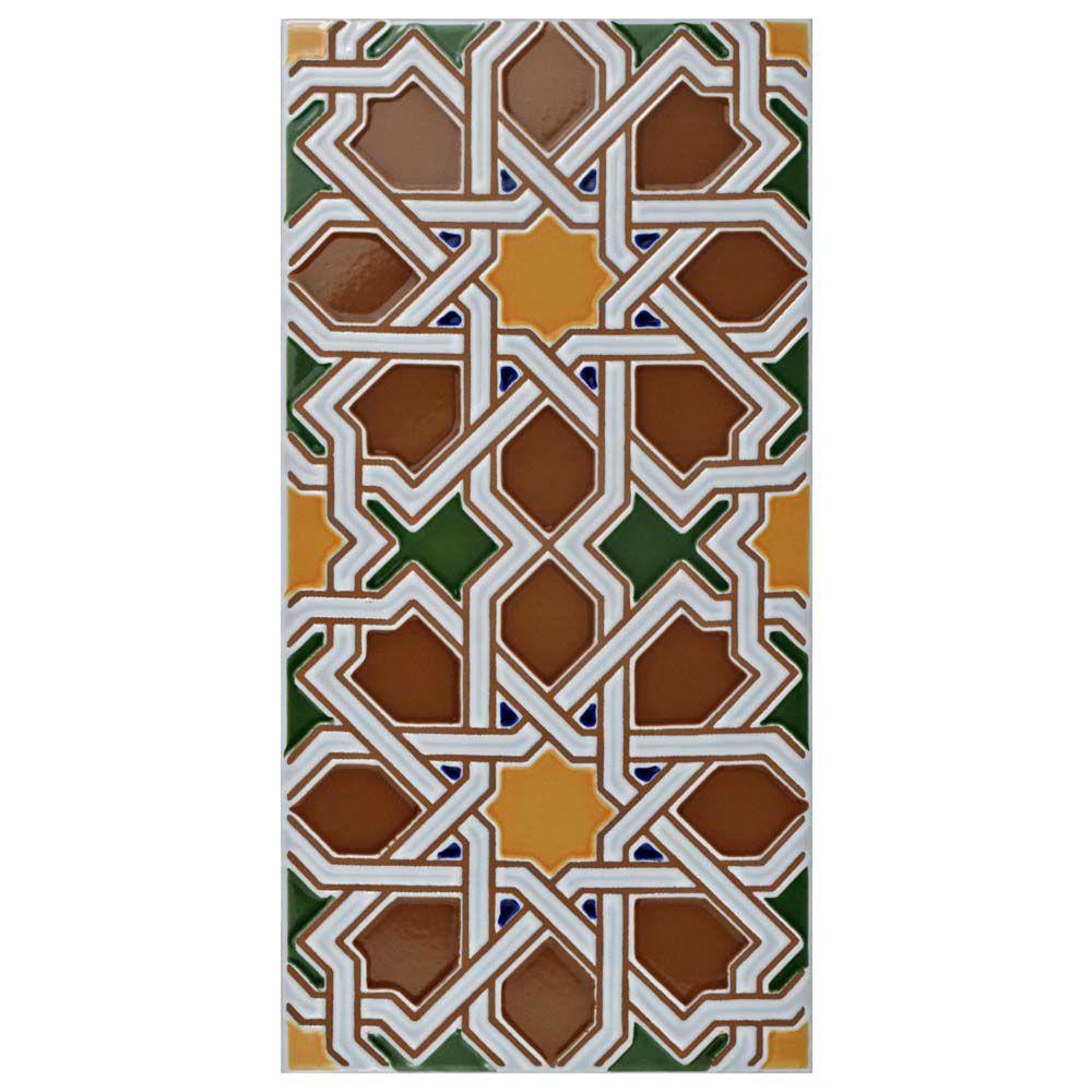 Merola Tile Artesanal Mairena Brown 5-1/2-inch x 11-inch Ceramic Wall Tile (11.23 sq. ft. / case)
