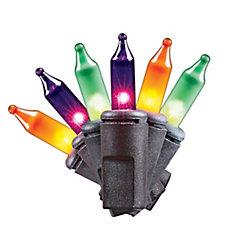 100 Mini-ampoules multicolores