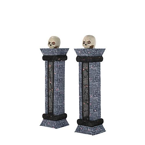 2 Pack LED Skull Column