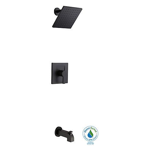 Modern Robinet pour baignoire et douche à une manette et 1jet, noir