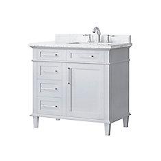 Salle de bain avec le meuble-lavabo Sonoma, Gris, 36 po