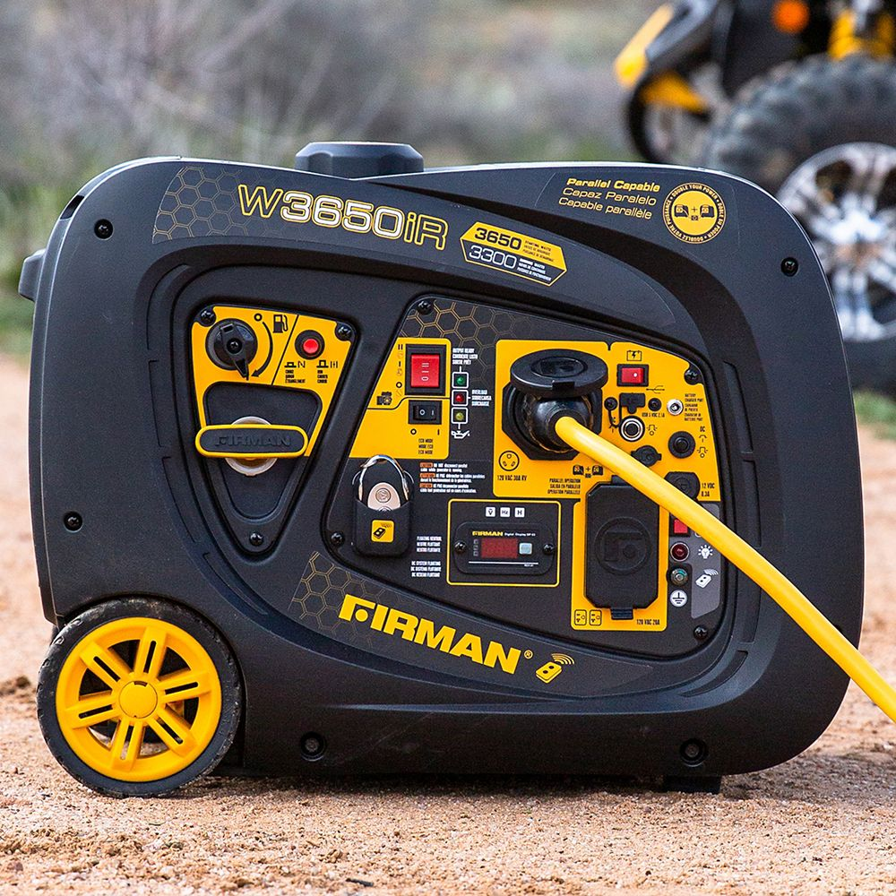 Firman 3650/3300 Watt Remote Start Inverter Portable Generator CARB and cETL Certified W03383