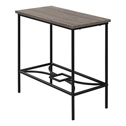 Monarch Specialties Accent Table - 22-inch H Dark Taupe Black Metal