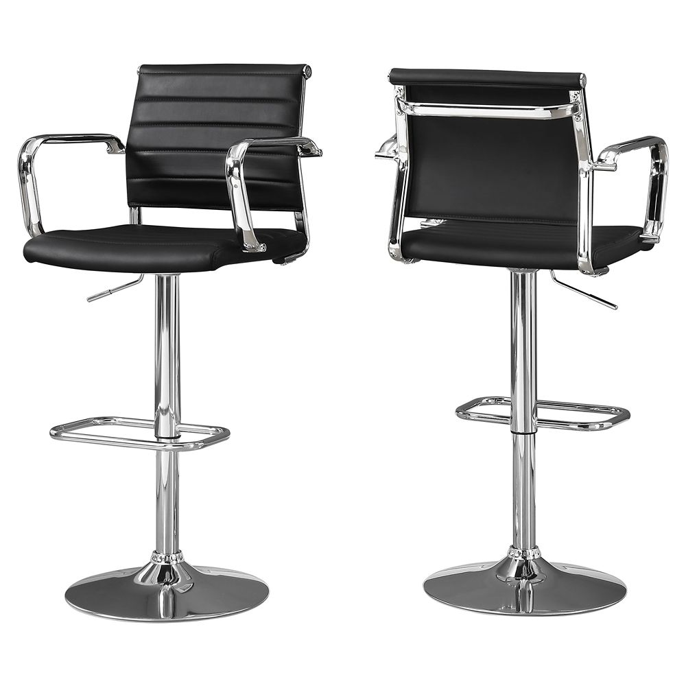 Monarch Specialties MELROSE Maple Barstool - (2-Pack)