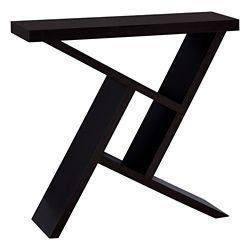Monarch Specialties Accent Table - 36-inch L Cappuccino Hall Console