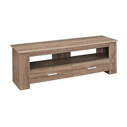 Monarch Specialties Tv Stand - 48-inch LDark Taupe With 2 Storage Drawers