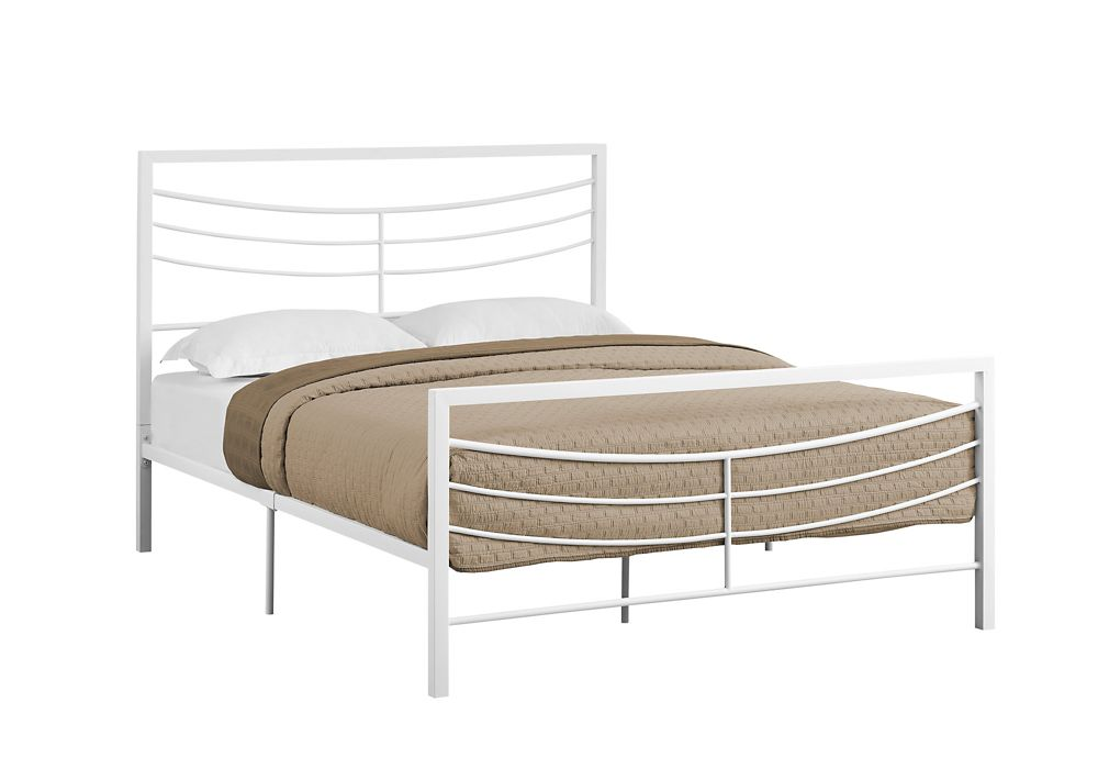 Monarch Specialties Bed - Queen SizeWhite Metal Frame Only