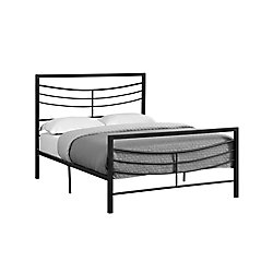 Monarch Specialties Bed - Full Size Black Metal Frame Only