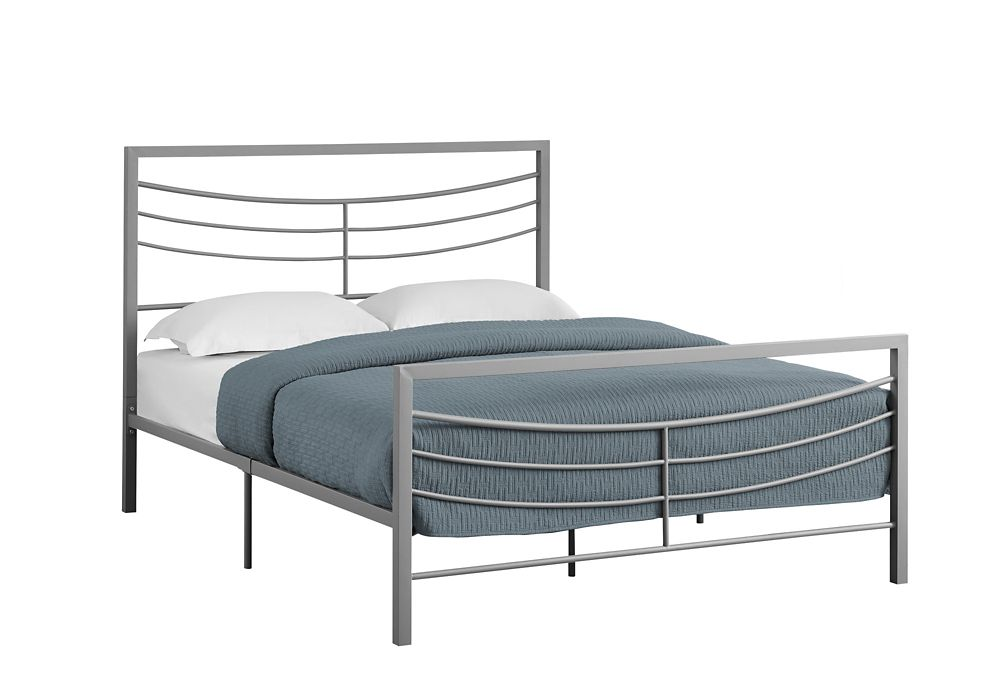 Monarch Specialties Bed - Queen SizeSilver Metal Frame Only