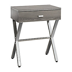 Monarch Specialties Accent Table - 24-inch H Dark TaupeChrome Metal