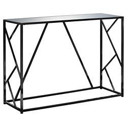 Monarch Specialties Table D'Appoint - 42 po L Nickel Noir Dessus Miroir