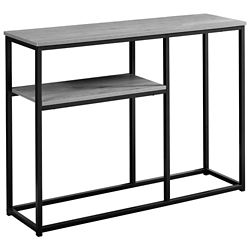 Monarch Specialties Accent Table - 42-inch L Grey Black Metal Hall Console