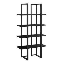 Monarch Specialties Bookcase - 60-inch H Black Black Metal