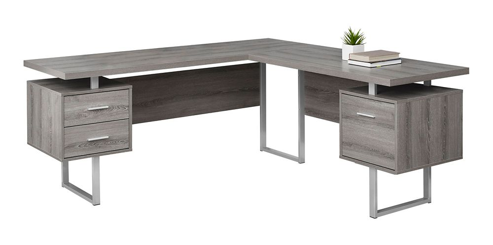 Monarch Specialties Computer Desk 70 Inch L Dark Taupe