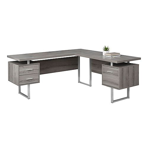 Monarch Specialties Computer Desk - 70-inch L Dark Taupe Left Or Right Facing