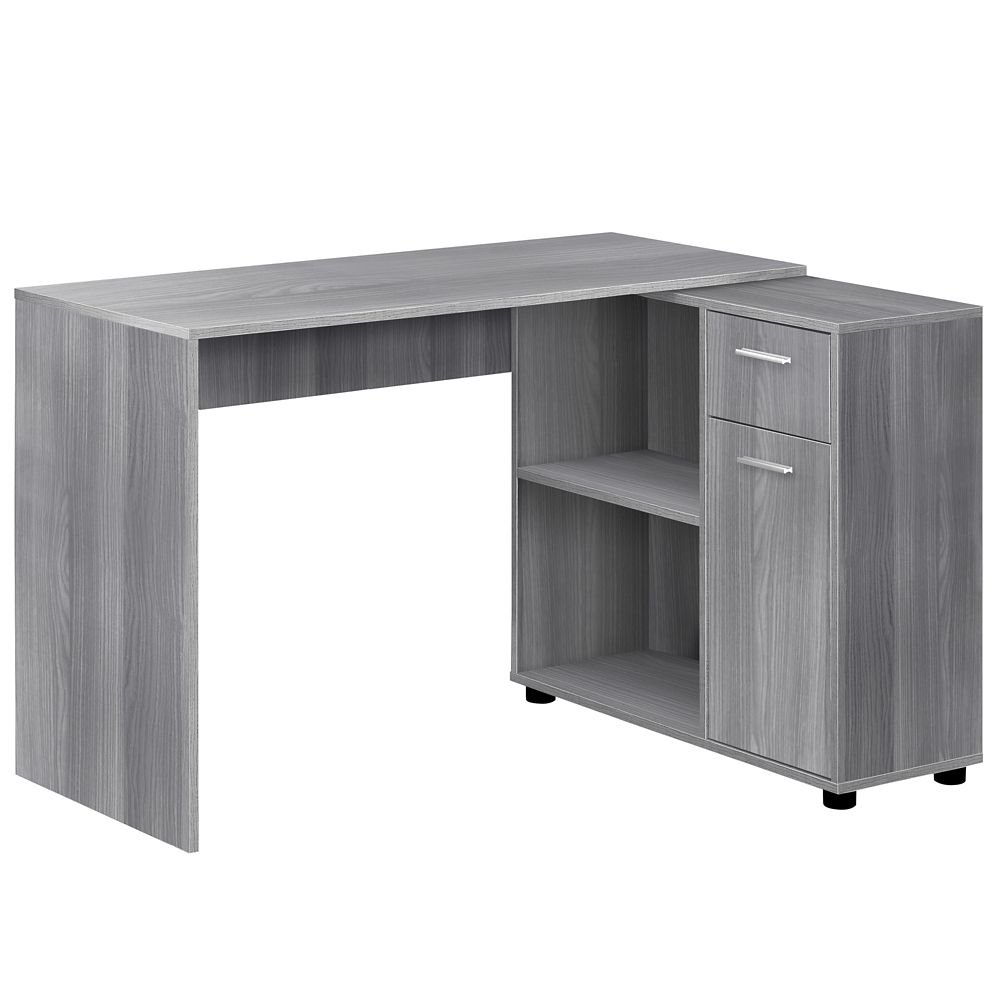 Monarch Specialties Computer Desk - 46-inch L Grey With A Storage Cabinet