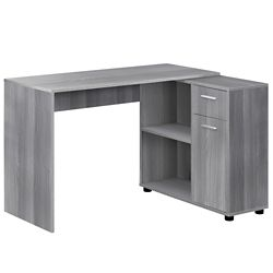 Monarch Specialties Computer Desk - 46-inch L Grey With A Storage Cabinet