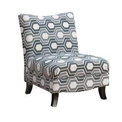 Monarch Specialties Accent Chair - Grey Geometric Fabric