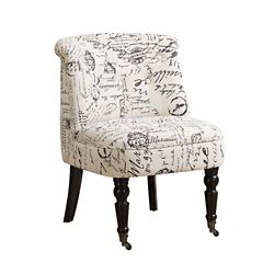Monarch Specialties Accent Chair - Traditional Style Vintage French Fabric