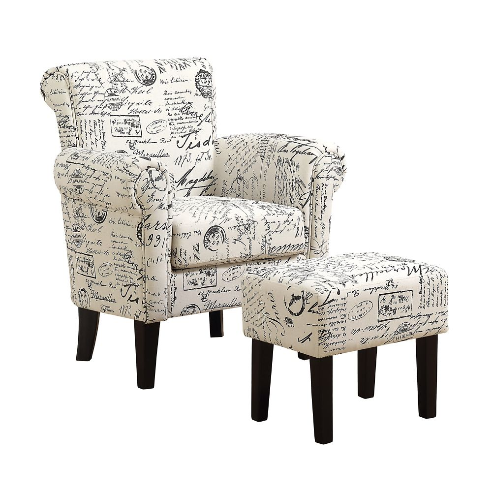 Monarch Specialties Accent Chair - Vintage French Fabric (Set of 2)