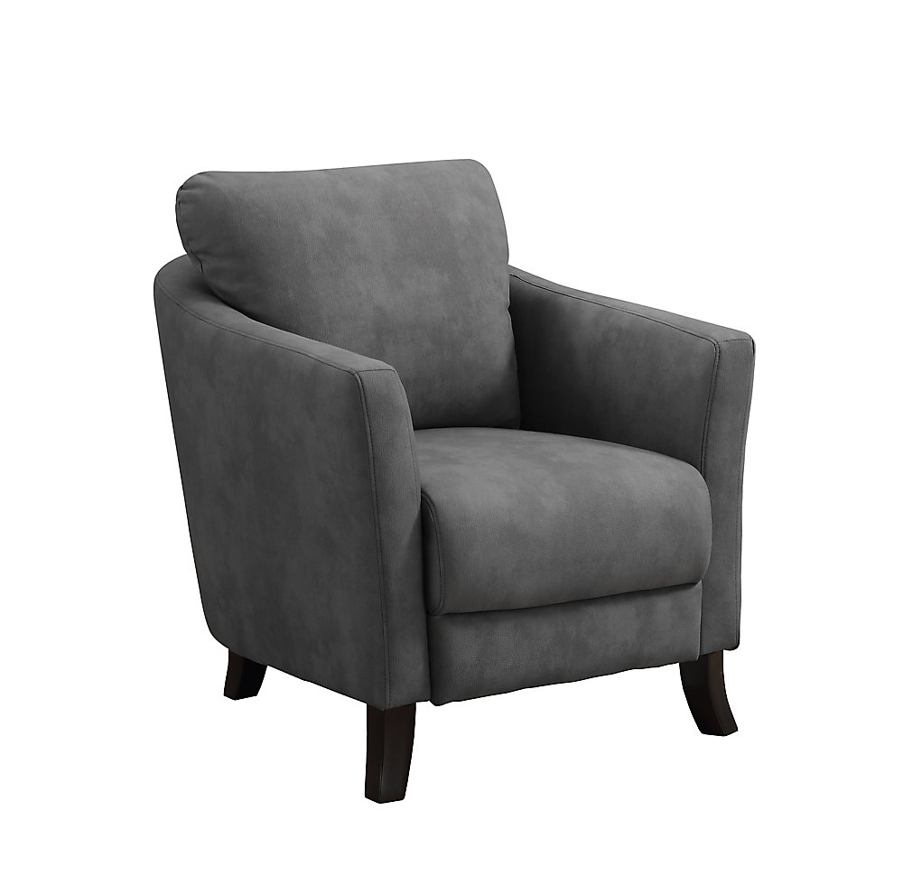 White Accent Chairs Used.Accent Chair Grey Microfiber Fabric