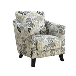 Monarch Specialties Accent Chair - Earth Tone Floral Fabric