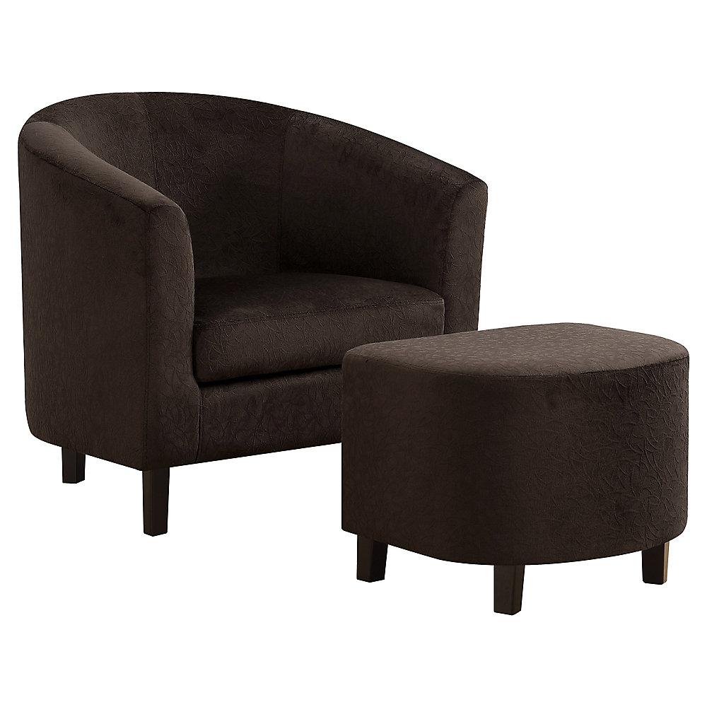 Dark Brown Accent Chairs.Accent Chair Dark Brown Floral Velvet Set Of 2