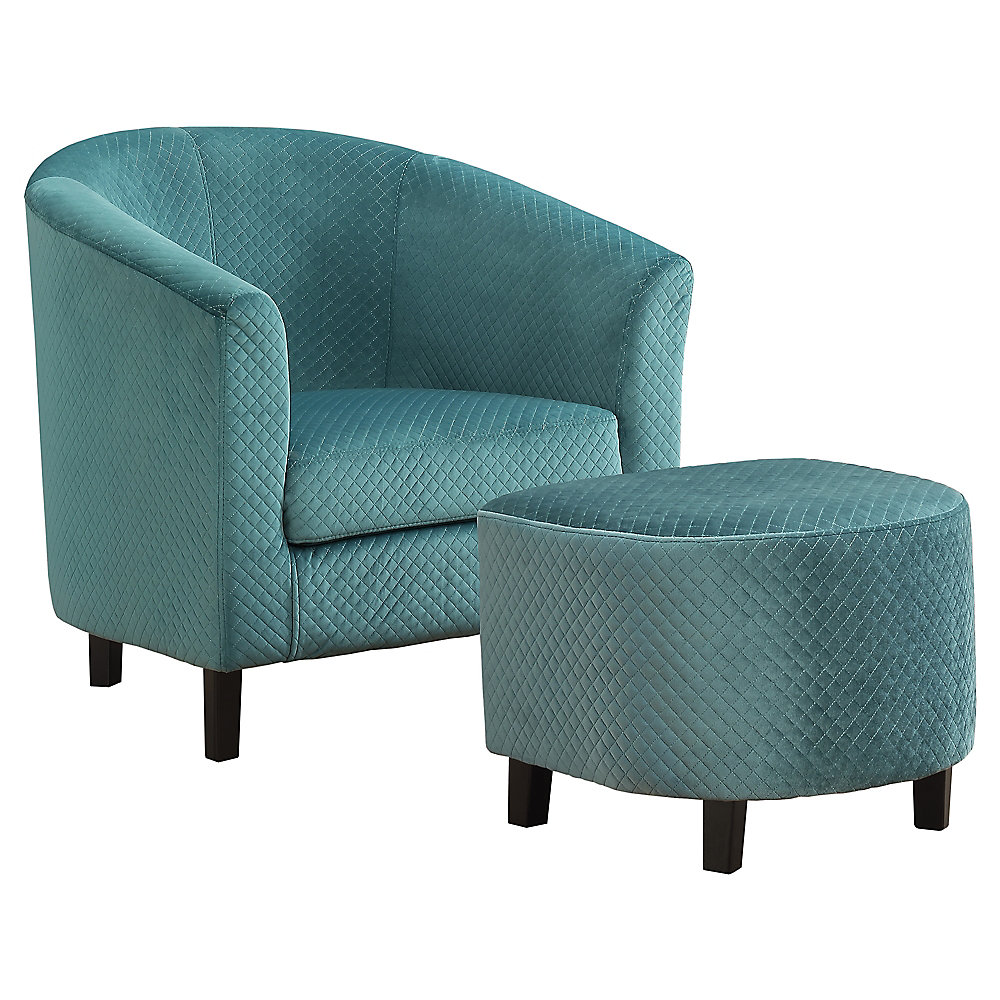 Set Of 2 Living Room Accent Chairs.Accent Chair Turquoise Quilted Fabric Set Of 2
