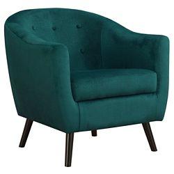 Monarch Specialties Accent Chair - Emerald Green Mosaic Velvet