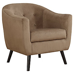 Monarch Specialties Accent Chair - Light Brown Mosaic Velvet