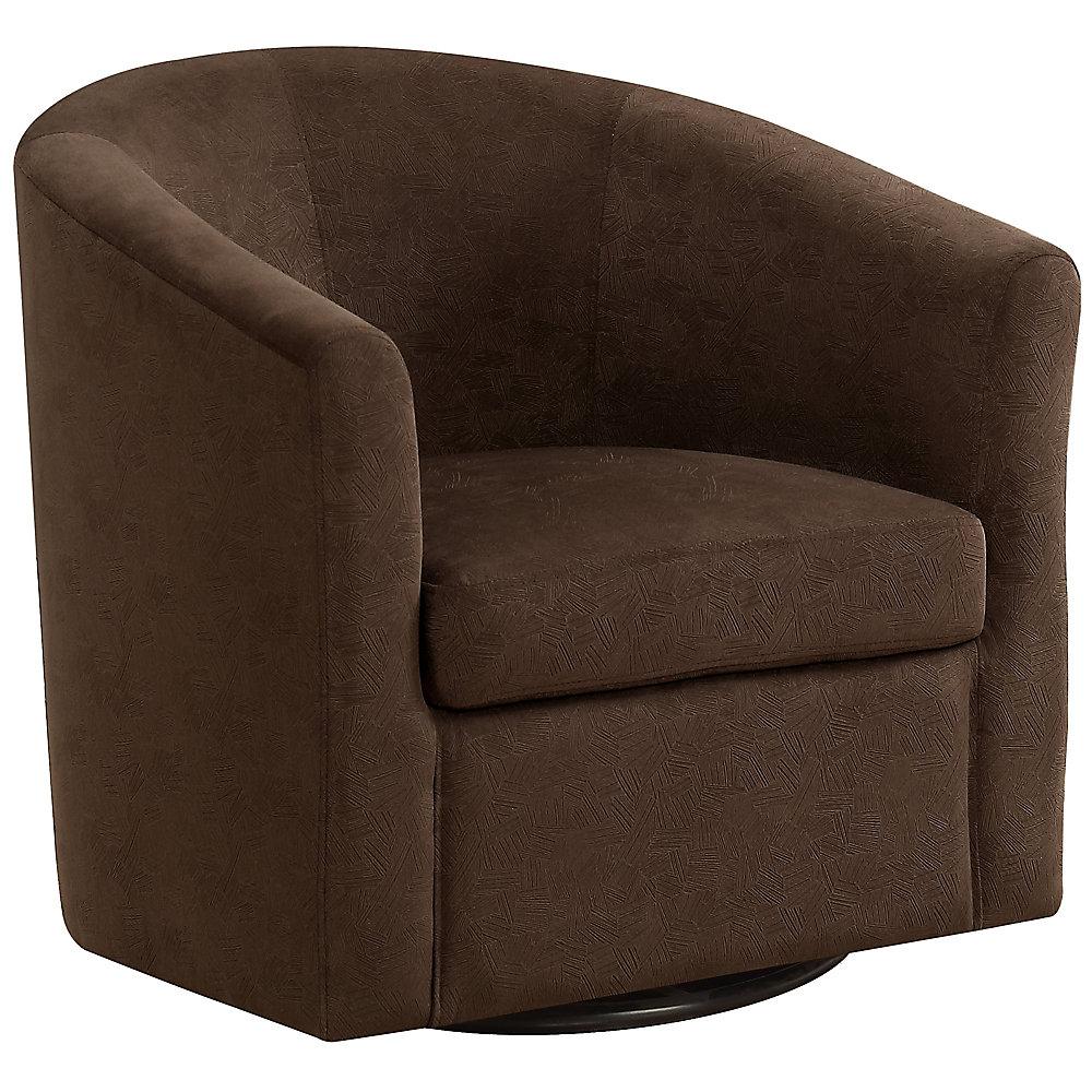 Dark Brown Accent Chairs.Accent Chair Swivel Dark Brown Abstract Velvet