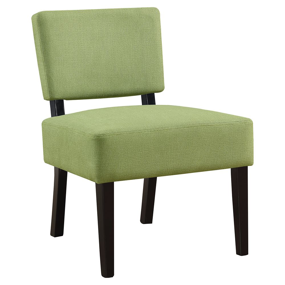 Monarch Specialties Accent Chair - Lime Green Fabric