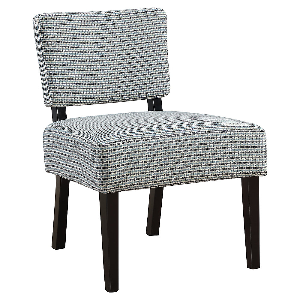 Accent Chair - Light Blue Grey Abstract Dot Fabric