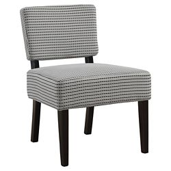 Monarch Specialties Accent Chair - Light Grey Black Abstract Dot Fabric