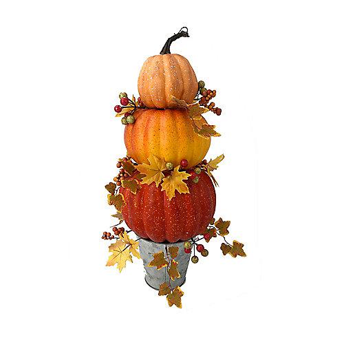 Styrofoam Stacked Pumpkin Topiary