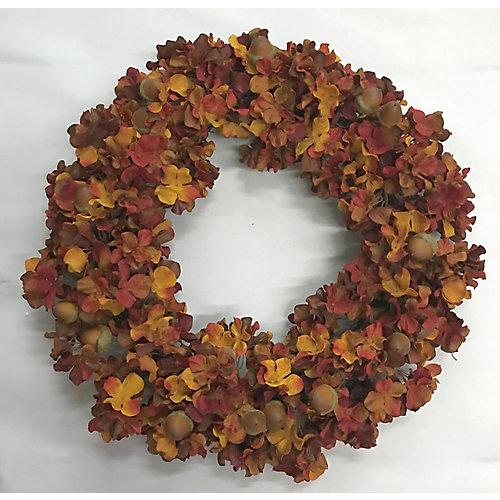22 inch Hydrangea Wreath