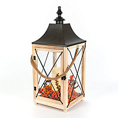 60,9 cm Lanterne des moissons en bois à DEL