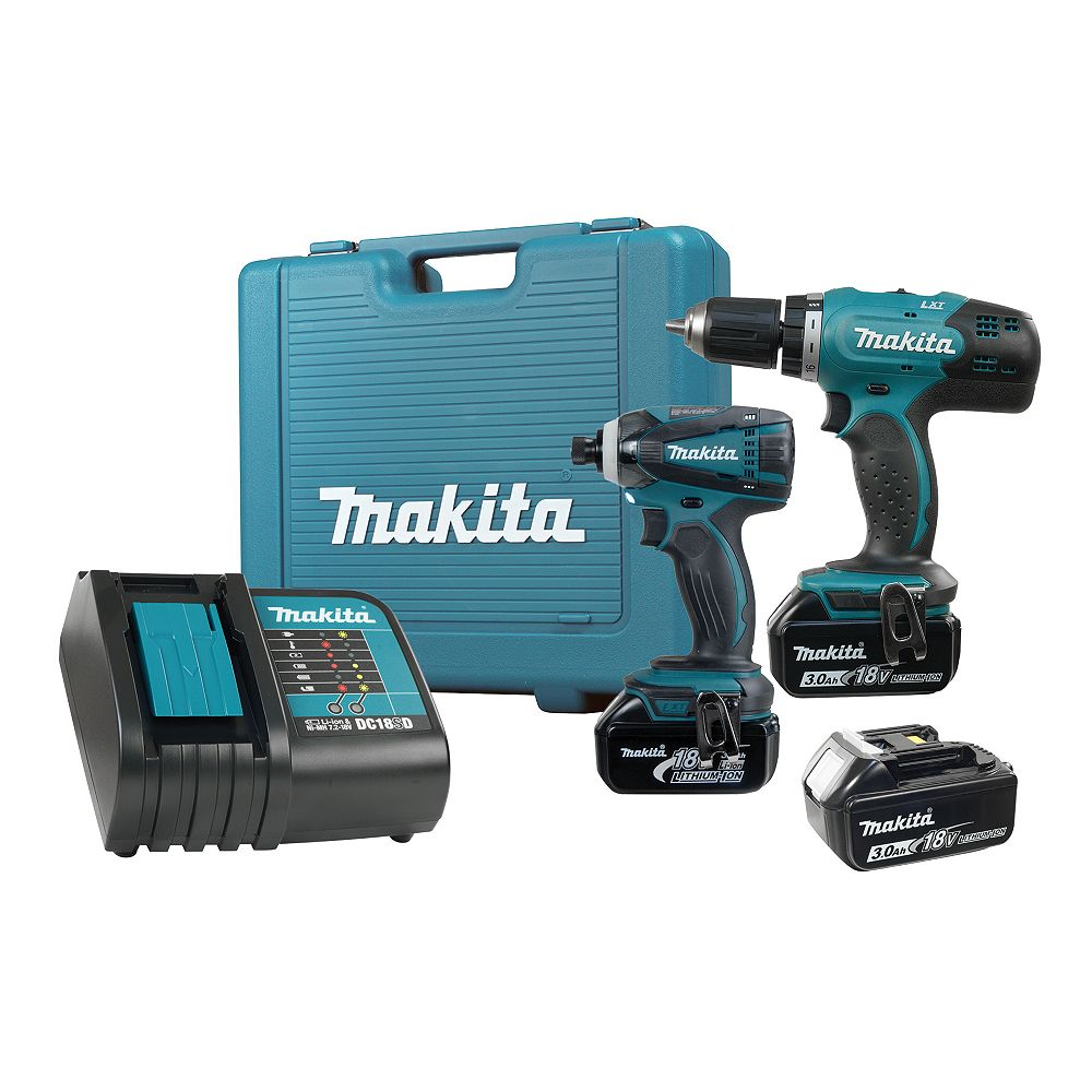 MAKITA 18V LXT 2-Piece 3.0Ah Impact Driver and Driver Drill Combo Kit with Battery