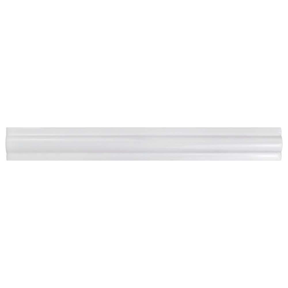 Merola Tile Artesanal Blanco Tira Relief 1-3/8-inch x 11-inch Ceramic Wall Trim Tile (4.69 Ln. ft. / case)