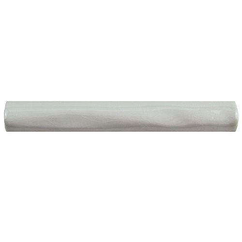 Merola Tile Antic Gris Oscuro Craquelle Torelo 3/4-inch x 6-inch Ceramic Wall Trim Tile (4.17 Ln. ft. / case)