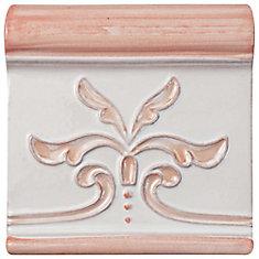 Novecento Friso Evoli Canela 5-1/4-inch x 5-1/4-inch Ceramic Wall Trim Tile (2.75 Ln. ft. / case)