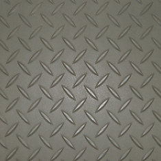 3 ft. x 5 ft. Pewter Textured Diamond Pattern PVC Garage Flooring (Covers 15 sq.ft.)