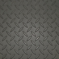 7.5 ft. x 22 ft. Charcoal Textured Diamond Pattern PVC Garage Flooring (Covers 165 sq.ft.)