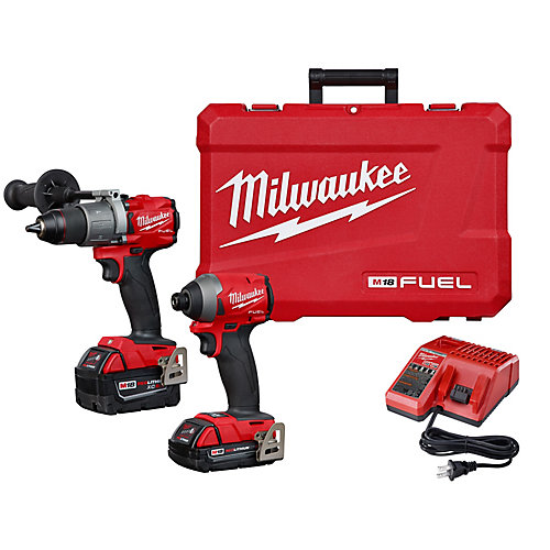 M18 FUEL 18V Li-Ion Brushless Cordless Hammer Drill and Impact Driver Combo Kit (2-Tool)