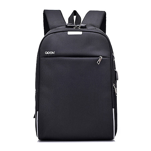 Smart Slim Oxford Back Pack Black