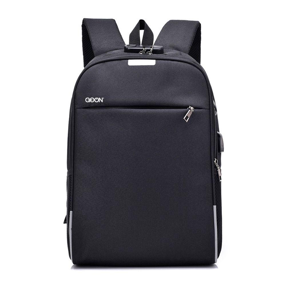 GO ON Smart Slim Oxford Back Pack Black